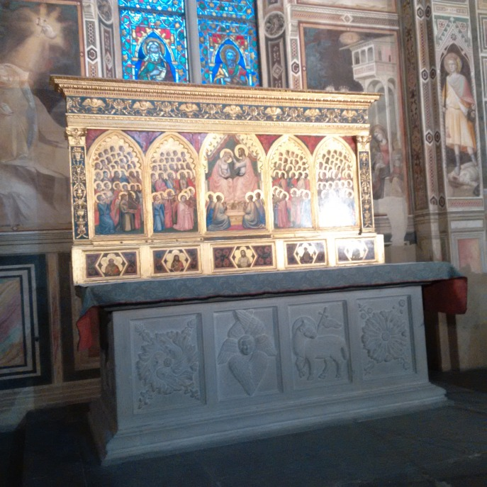 I actually saw the finishing touches of the restoration of this altar/chapel... amazing, the time and effort it takes